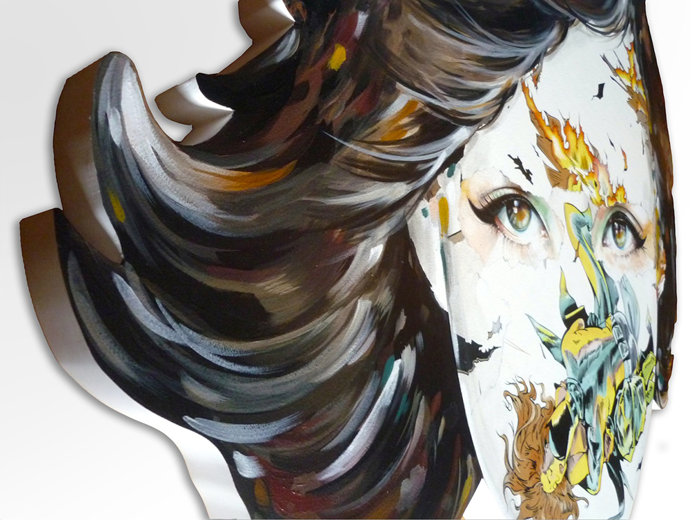 Sandra  Chevrier -  <strong>La Cage immunisé à ses charmes (DETAIL)</strong> (<strong style = 'color:#635a27'></strong>)<bR />