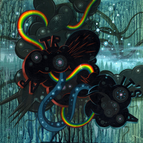 Jeff  Soto -  <strong>It's a Trap!</strong> (2007<strong style = 'color:#635a27'></strong>)<bR /> Acrylic on wood,   12 x 12 inches
