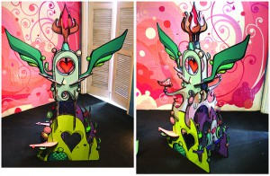 Highraff   -  <strong>Large Sculpture</strong> (<strong style = 'color:#635a27'></strong>)<bR /> Mixed Media Sculpture,   45 x 68 x 30 inches
