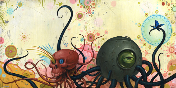 Jeff  Soto -  <strong>Halifax</strong> (2005<strong style = 'color:#635a27'></strong>)<bR /> Acrylic on Wood  12 x 24 inches