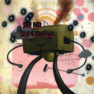 Jeff  Soto -  <strong>Supernova</strong> (2006<strong style = 'color:#635a27'></strong>)<bR /> Acrylic on wood  24 x 24 inches
