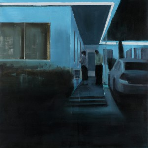 Brett  Amory -  <strong>Waiting #222</strong> (2014<strong style = 'color:#635a27'></strong>)<bR /> oil on canvas,   48 x 48 inches  (91.44 x 91.44 cm)