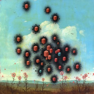 Jeff  Soto -  <strong>Summer</strong> (2005<strong style = 'color:#635a27'></strong>)<bR /> Acrylic on wood  18 x 18 inches