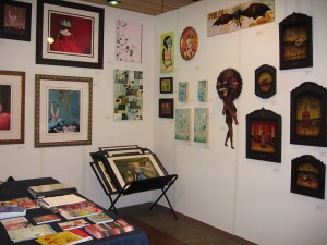 AAF  & nbsp -  <strong>the booth</strong> (<strong style = 'color:#635a27'></strong>)<bR /> Later in the fair with artwork by Ray Caesar, Jim Houser, Miss Van, Jeff Soto, Mars-1, AJ Fosik, and Daniel Martin Diaz