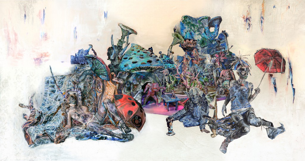 Artists Anonymous  &nbsp -  <strong>Borderlands Afterimage</strong> (2014<strong style = 'color:#635a27'></strong>)<bR /> photographic afterimage  digital C print,   59.05 x 110.24 inches  (150 x 280 cm)