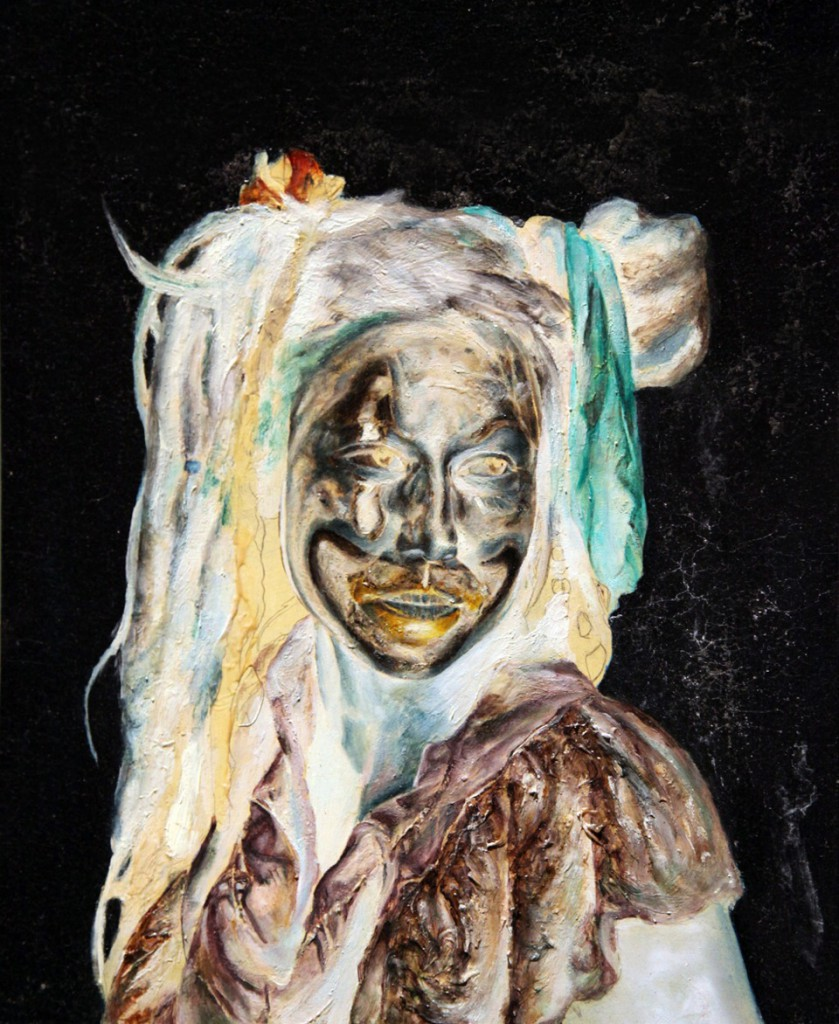 Artists Anonymous  &nbsp -  <strong>Unicorn or Coincidence</strong> (2014<strong style = 'color:#635a27'></strong>)<bR /> oil on board,   15.38 x 12.62 inches  (39 x 32 cm)