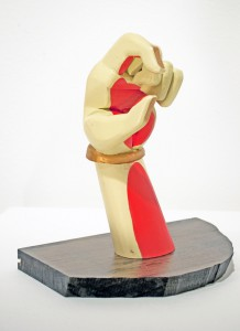 AJ  Fosik -  <strong>C hand</strong> (2011<strong style = 'color:#635a27'></strong>)<bR /> wood, paint and nails,   10 x 4 x 6 inches  (25.4 x 10.16 x 15.24 cm)