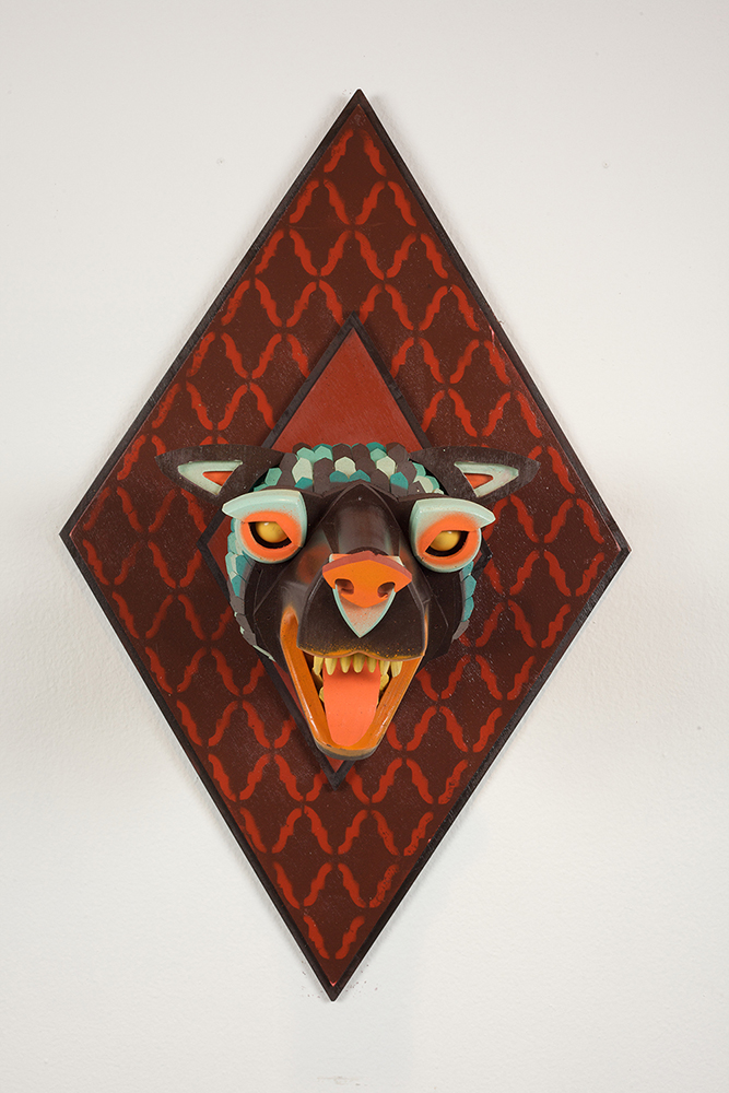 AJ  Fosik -  <strong>Infinite Worth Against the Timeless Scheme No. 21</strong> (2013<strong style = 'color:#635a27'></strong>)<bR /> wood, paint and nails,   28 x 17.5 x 18 inches  (71.12 x 44.45 x 45.72 cm)