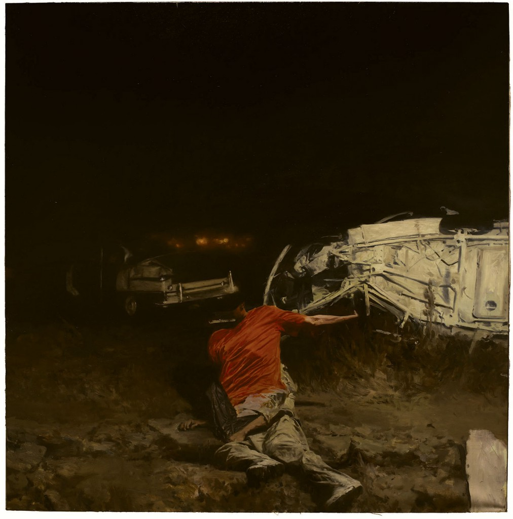 Phil  Hale -  <strong>Life Wants to Live</strong> (2014<strong style = 'color:#635a27'></strong>)<bR /> (13),   oil on linen,   54 x 54 inches  (137.16 x 137.16 cm)