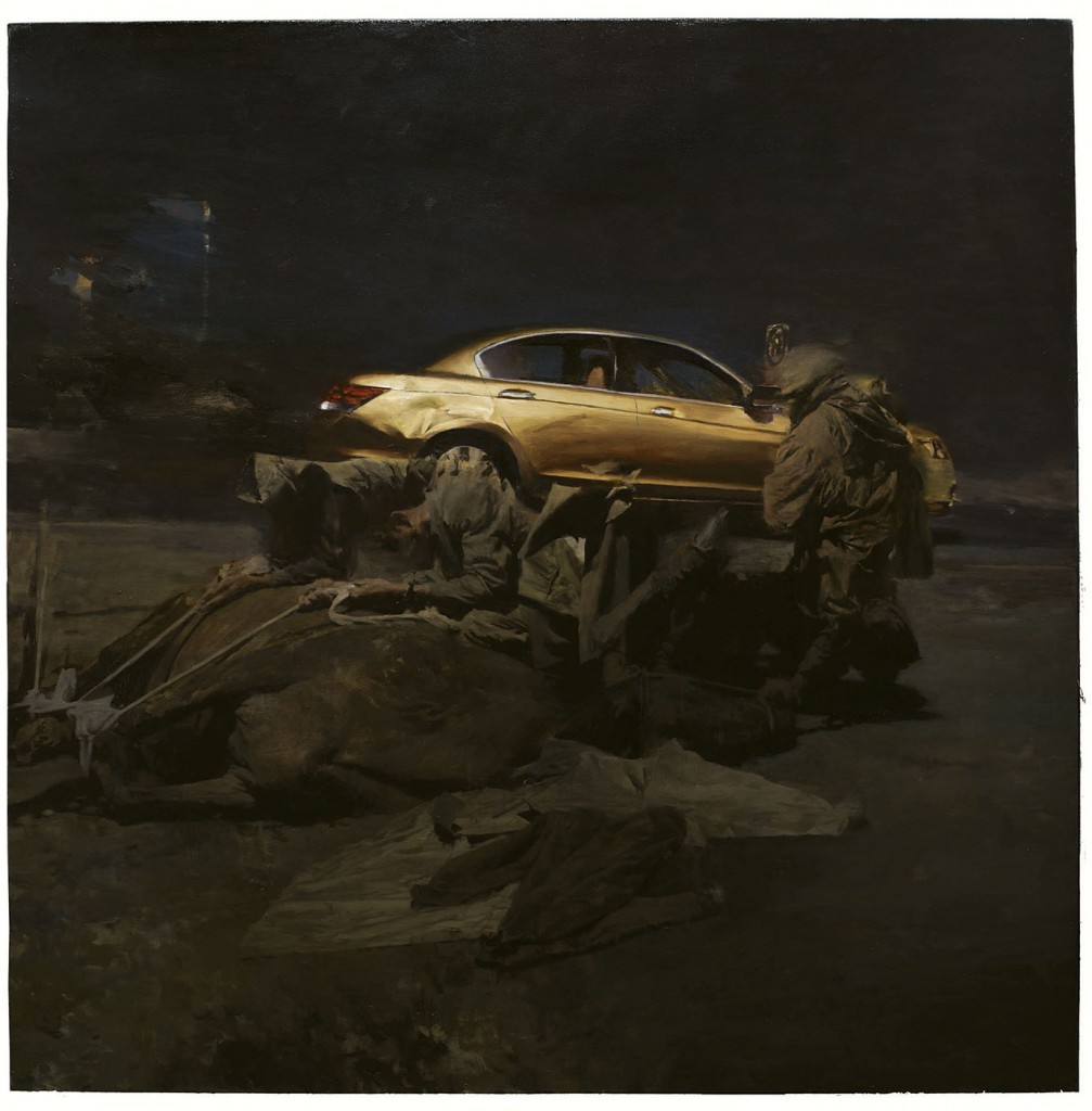 Phil  Hale -  <strong>Life Wants to Live</strong> (2014<strong style = 'color:#635a27'></strong>)<bR /> (14),   oil on linen,   54 x 54 inches  (137.16 x 137.16 cm)