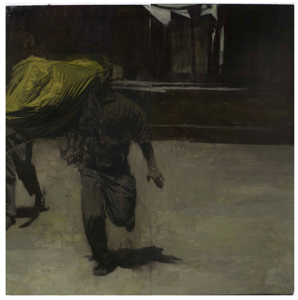 Phil  Hale -  <strong>Life Wants to Live</strong> (2014<strong style = 'color:#635a27'></strong>)<bR /> (4),   oil on linen,   48 x 48 inches  (121.92 x 121.92 cm)