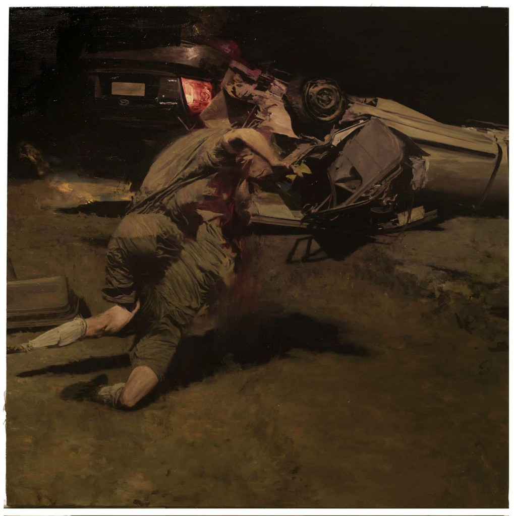 Phil  Hale -  <strong>Life Wants to Live</strong> (2014<strong style = 'color:#635a27'></strong>)<bR /> (5),   oil on linen,   54 x 54 inches  (137.16 x 137.16 cm)