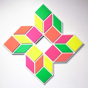 Aakash  Nihalani -  <strong>8 G</strong> (2012<strong style = 'color:#635a27'></strong>)<bR /> acrylic on wood,   33 x 33 x .75 inches  (83.82 x 83.82 x 1.9 cm)