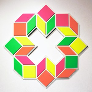 Aakash  Nihalani -  <strong>8 K</strong> (2012<strong style = 'color:#635a27'></strong>)<bR /> acrylic on wood,   33 x 33 x .75 inches  (83.82 x 83.82 x 1.9 cm)