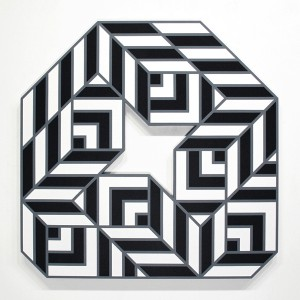 Aakash  Nihalani -  <strong>Egg 1</strong> (2012<strong style = 'color:#635a27'></strong>)<bR /> acrylic on wood,   48 x 48 x 1.75 inches  (121.92 x 121.92 x 4.45 cm)