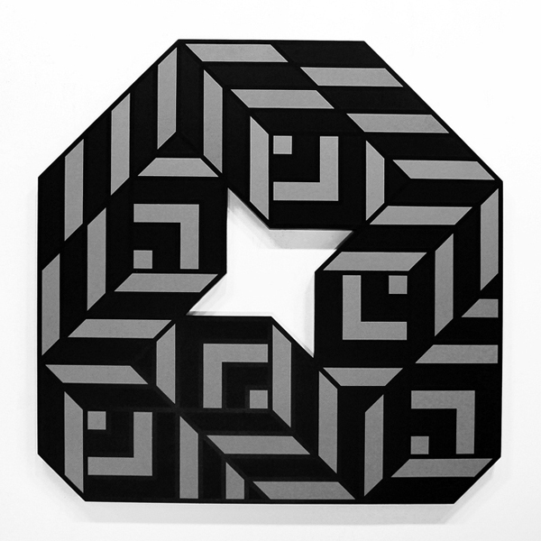 Aakash  Nihalani -  <strong>Egg 2</strong> (2012<strong style = 'color:#635a27'></strong>)<bR /> acrylic on wood,   48 x 48 x 1.75 inches  (121.92 x 121.92 x 4.45 cm)