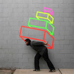 Aakash  Nihalani -  <strong>Stack</strong> (2011<strong style = 'color:#635a27'></strong>)<bR /> archival digital print,   24 x 24 inches  (60.96 x 60.96 cm)