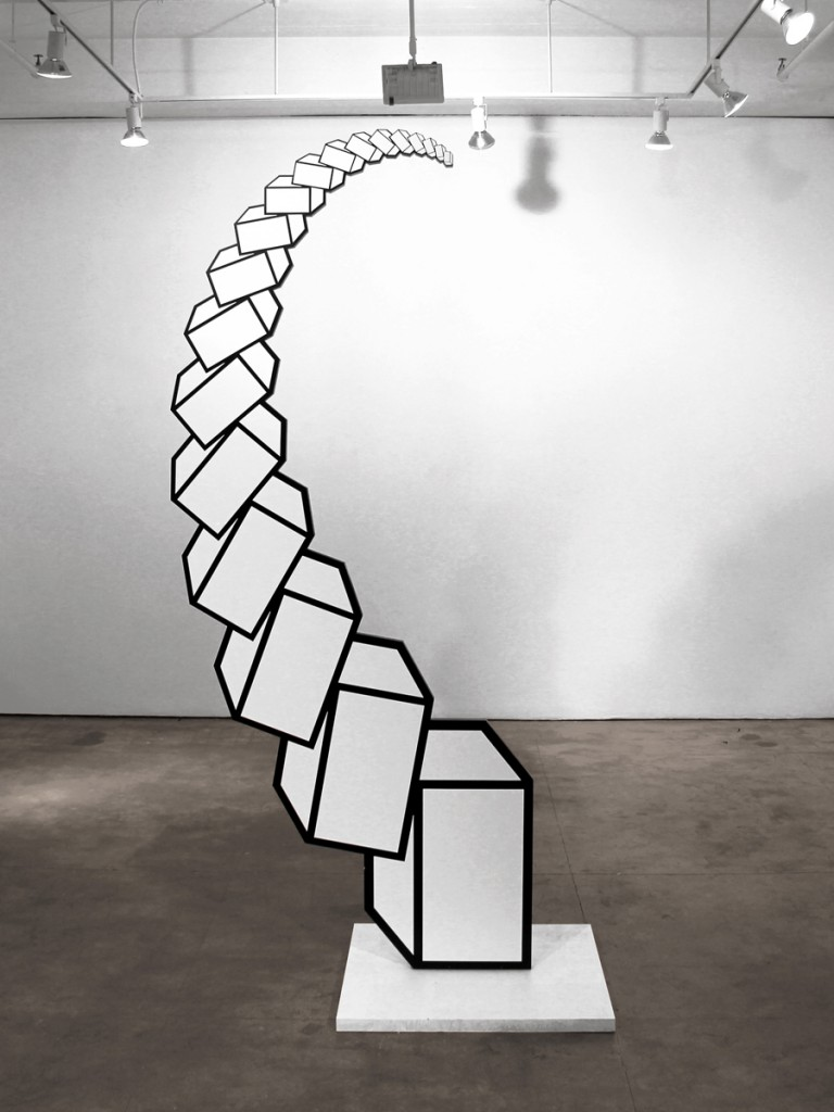 Aakash  Nihalani -  <strong>Upright</strong> (2012<strong style = 'color:#635a27'></strong>)<bR /> acrylic on wood,   108.75 x 46.5 x 2 inches  (276.22 x 118.11 x 5 cm)