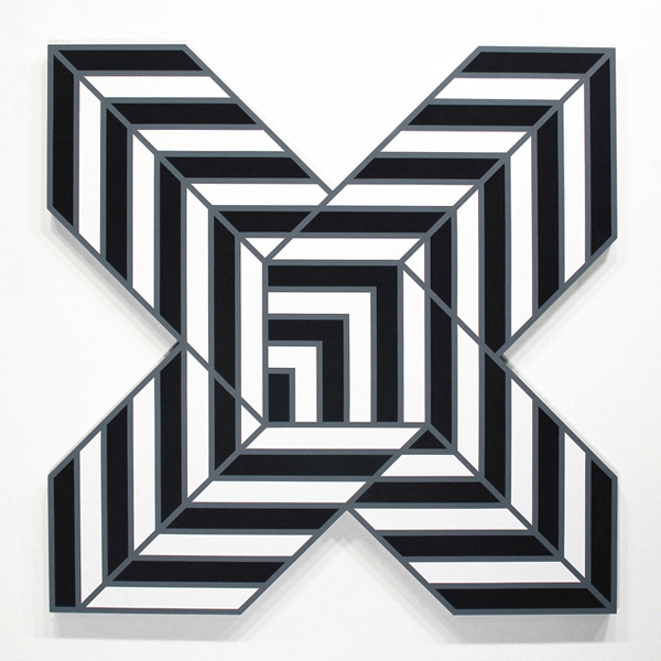 Aakash  Nihalani -  <strong>X 1</strong> (2012<strong style = 'color:#635a27'></strong>)<bR /> acrylic on wood,   48 x 48 x 1.75 inches  (121.92 x 121.92 x 4.45 cm)