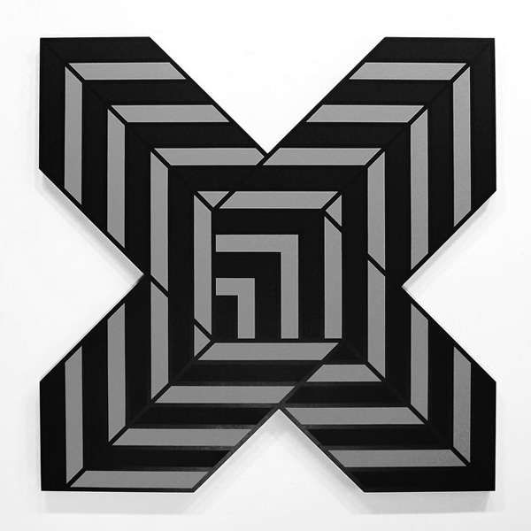 Aakash  Nihalani -  <strong>X 2</strong> (2012<strong style = 'color:#635a27'></strong>)<bR /> acrylic on wood,   48 x 48 x 1.75 inches  (121.92 x 121.92 x 4.45 cm)