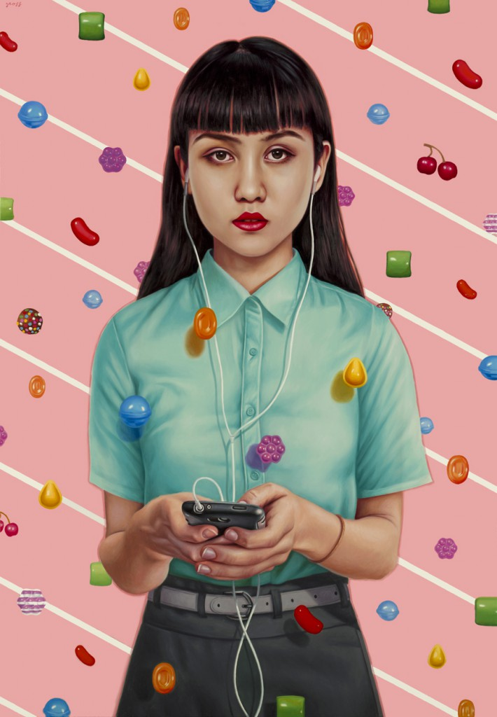 Alex  Gross -  <strong>Candy Crush</strong> (2014<strong style = 'color:#635a27'></strong>)<bR /> oil on canvas,   48.25 x 33.5 inches  (122.56 x 85.09 cm)