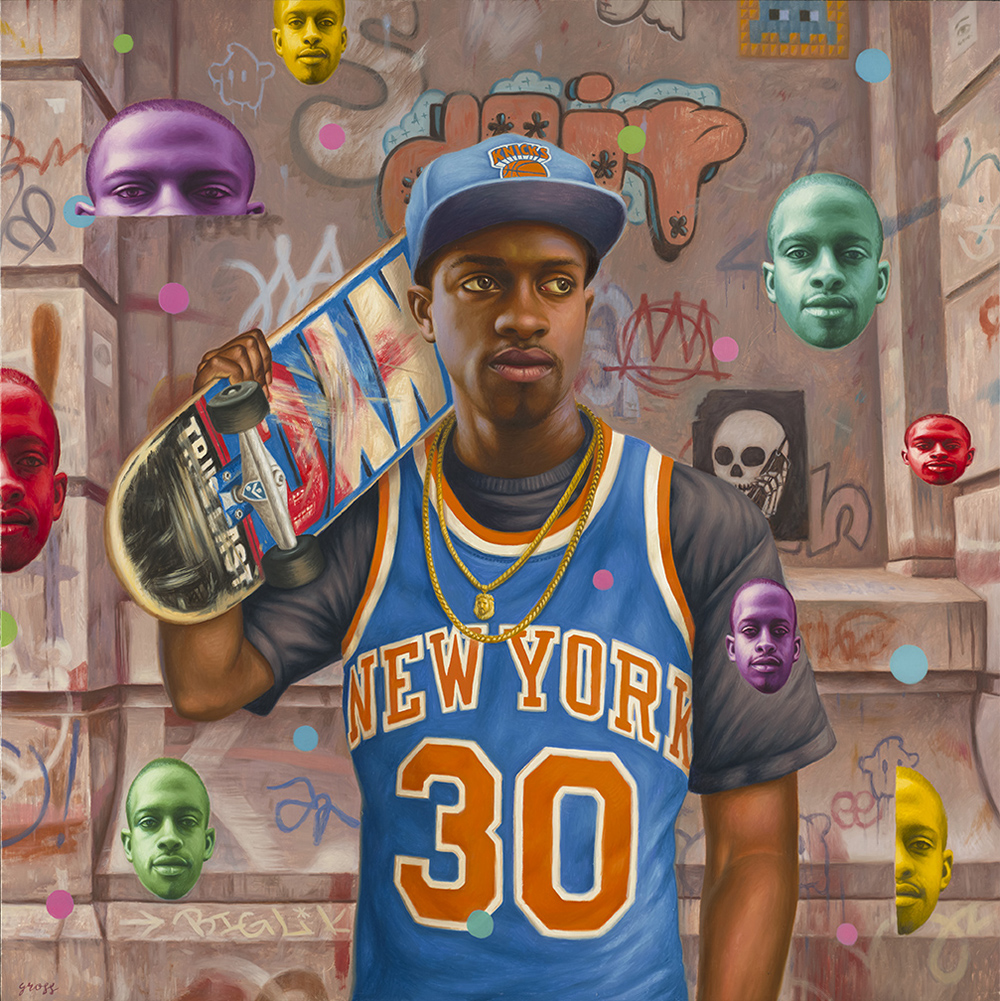 Alex  Gross -  <strong>Dave Willis</strong> (2013<strong style = 'color:#635a27'></strong>)<bR /> oil on canvas,   33 x 33 inches  (83.82 x 83.82 cm)