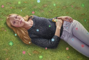 Alex  Gross -  <strong>Daydreamer</strong> (2014<strong style = 'color:#635a27'></strong>)<bR /> oil on canvas,   31.25 x 46 inches  (79.38 x 116.84)