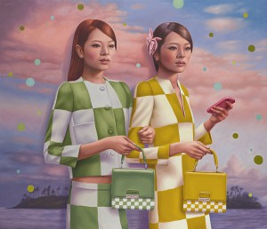 Alex  Gross -  <strong>Facade</strong> (2013<strong style = 'color:#635a27'></strong>)<bR /> oil on canvas,   43 x 50 inches  (109.22 x 127.00 cm)