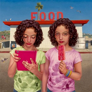 Alex  Gross -  <strong>FOOD</strong> (2014<strong style = 'color:#635a27'></strong>)<bR /> oil on canvas,   26 x 26 inches  (66.04 x 66.04 cm)