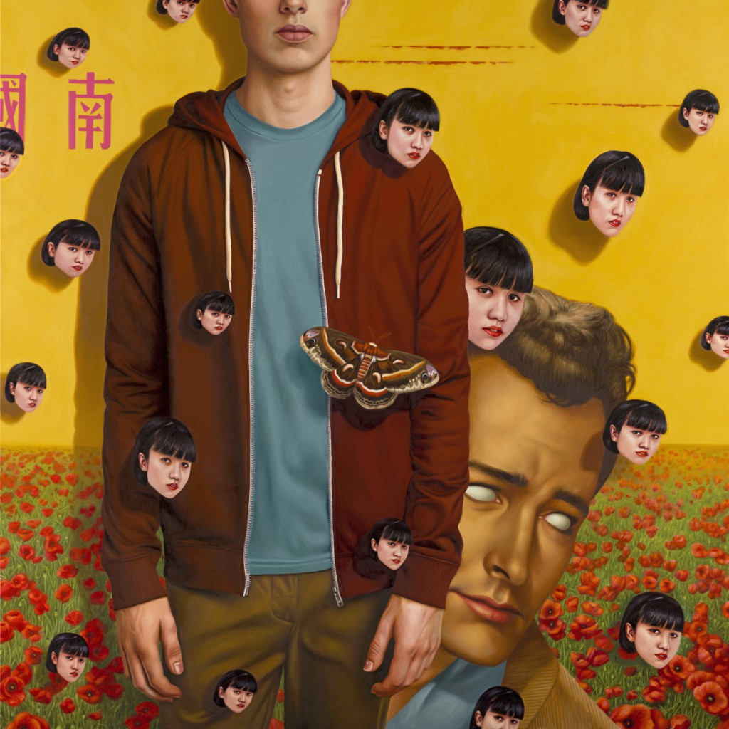 Alex  Gross -  <strong>Honey Flower</strong> (2014<strong style = 'color:#635a27'></strong>)<bR /> oil on canvas,   48 x 48 inches  (121.92 x 121.92 cm)