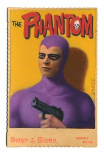 Alex  Gross -  <strong>The Phantom</strong> (2014<strong style = 'color:#635a27'></strong>)<bR /> mixed media on antique cabinet card photograph,   4.25 x 6.5 inches  (10.8 x 16.51 cm)  9 x 11 inches, FRAMED,   Please contact gallery for availability