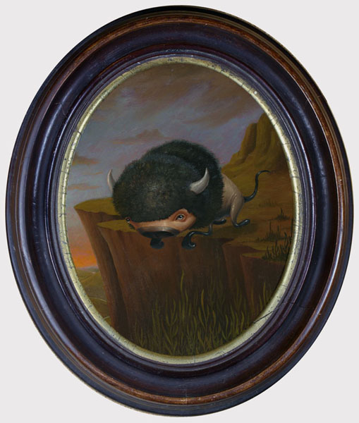 Scott  Musgrove -  <strong>All Is Well, I Die Hard</strong> (2010<strong style = 'color:#635a27'></strong>)<bR /> oil on board  10 x 8 inches (25.4 x 20.32 cm)  13.5 x 11.5 inches, framed