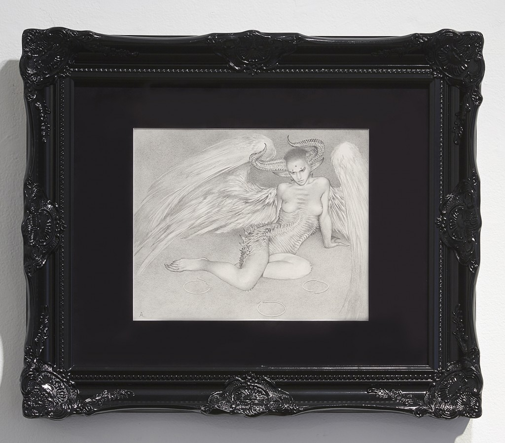 Allen  Williams -  <strong>The Hunter</strong> (2015<strong style = 'color:#635a27'></strong>)<bR /> graphite on paper,   13 x 10.5 inches  (33.02 x 26.67 cm)  16 x 20 inches, framed