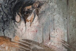 Alyssa  Monks -  <strong>Chance</strong> (2013<strong style = 'color:#635a27'></strong>)<bR /> oil on linen,   32 x 48 inches  (81.28 x 121.92 cm)