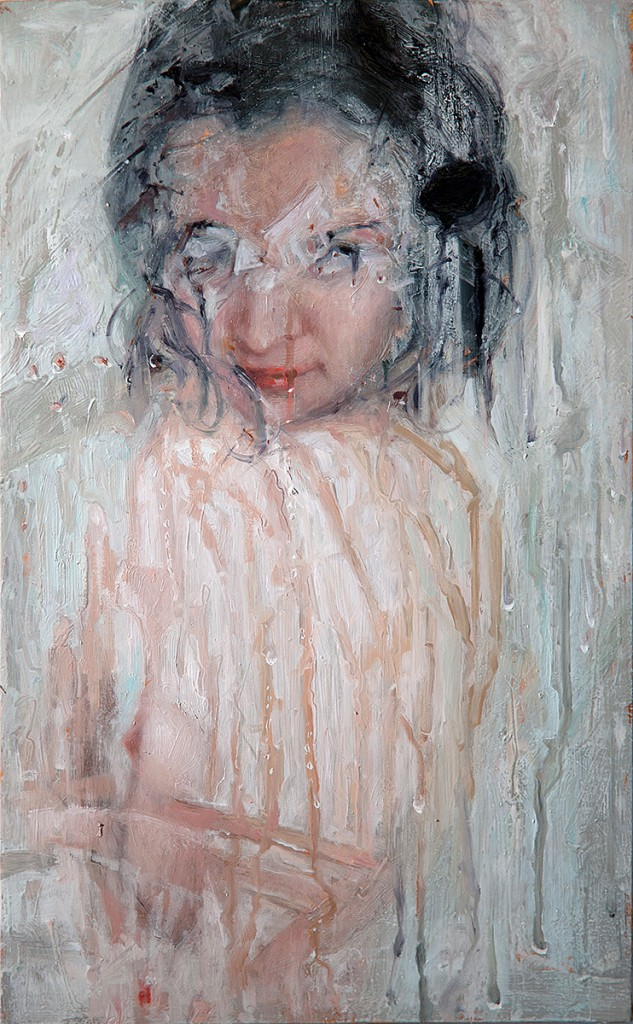 Alyssa  Monks -  <strong>Play</strong> (2013<strong style = 'color:#635a27'></strong>)<bR /> oil on panel,   16 x 10 inches  (40.64 x 25.4 cm)