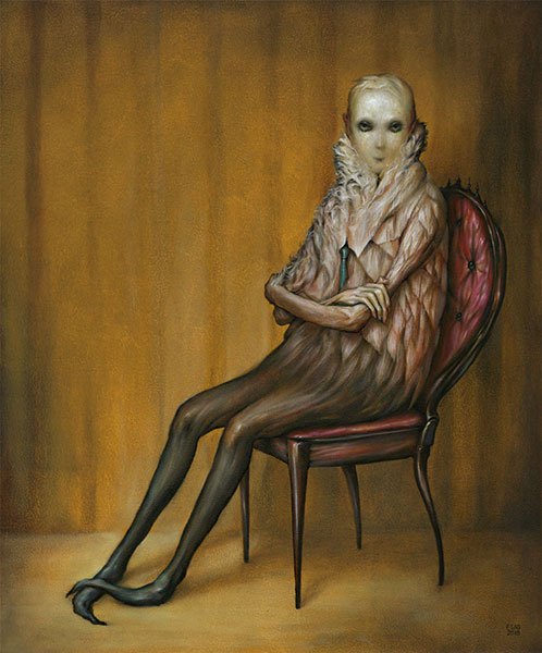 Esao  Andrews -  <strong>Meigh</strong> (2010<strong style = 'color:#635a27'></strong>)<bR /> oil on wood  24 x 20 in. (61 x 50.8 cm)  29 x 25 inches, framed