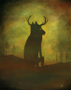 Andy  Kehoe -  <strong>A Moment of Respite</strong> (2011<strong style = 'color:#635a27'></strong>)<bR /> oil on wood panel,   20 x 16 inches (50.8 x 40.64 cm)  22.75 x 18.5 inches, framed