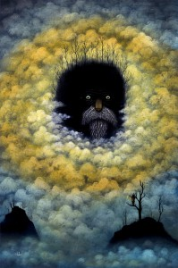 Andy  Kehoe -  <strong>Hail the Dark Wonder</strong> (2011<strong style = 'color:#635a27'></strong>)<bR /> oil on wood panel,   30 x 20 inches (76.2 x 50.8 cm)  33.5 x 23.25 inches, framed