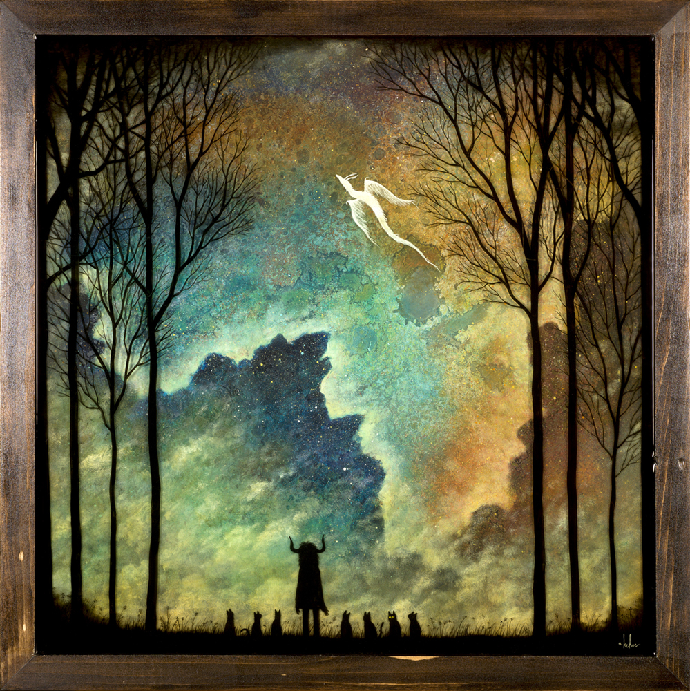Andy  Kehoe -  <strong>Relish Moments of Glory</strong> (2013<strong style = 'color:#635a27'></strong>)<bR />  oil, acrylic and resin in wood box,   24 x 24 inches  (60.96 x 60.96 cm)
