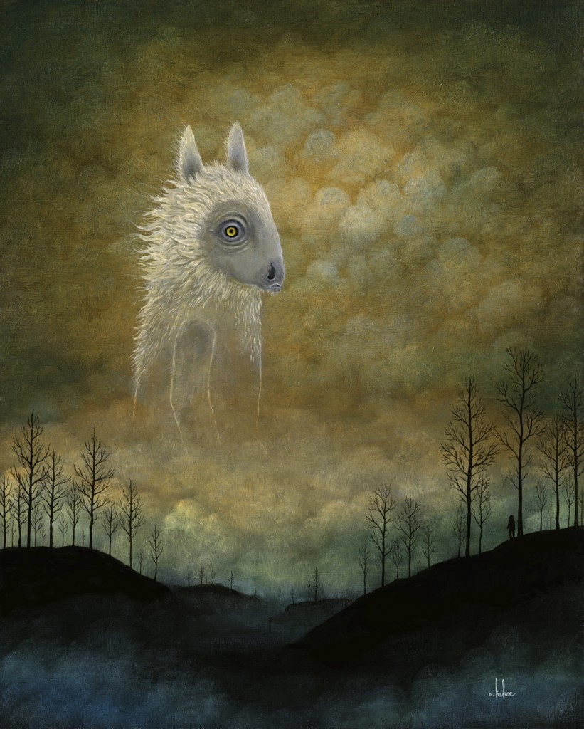 Andy  Kehoe -  <strong>Roamer of Reverie</strong> (2011<strong style = 'color:#635a27'></strong>)<bR /> oil on wood panel,   20 x 16 inches (50.8 x 40.64 cm)  22.75 x 18.5 inches, framed