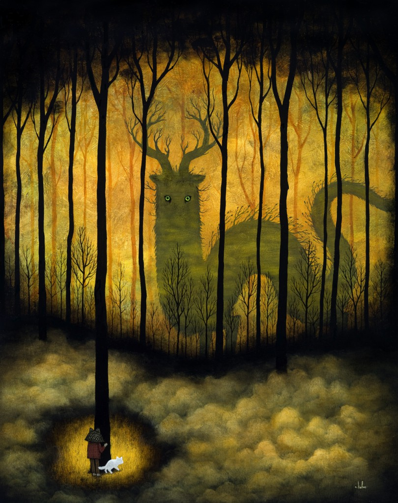 Andy  Kehoe -  <strong>Under the Gaze of the Glorious</strong> (2011<strong style = 'color:#635a27'></strong>)<bR /> oil on wood panel,   30 x 24 inches (76.2 x 60.96 cm)  33.25 x 27.25 inches, framed