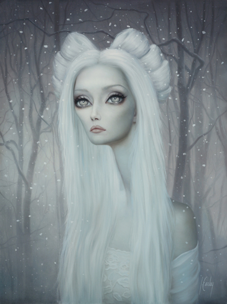 Lori  Earley -  <strong>Angela</strong> (2008<strong style = 'color:#635a27'></strong>)<bR /> Oil on Board,   Image size: 16 x 12 inches,   Framed size: 26 x 22 1/2 inches