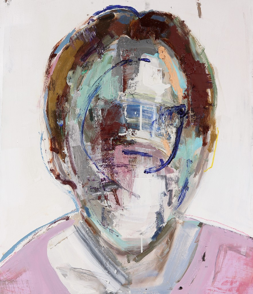 Brett  Amory -  <strong>Anonymous #22</strong> (2014<strong style = 'color:#635a27'></strong>)<bR /> oil on wood,   24 x 28 inches  (60.96 x 71.12 cm)