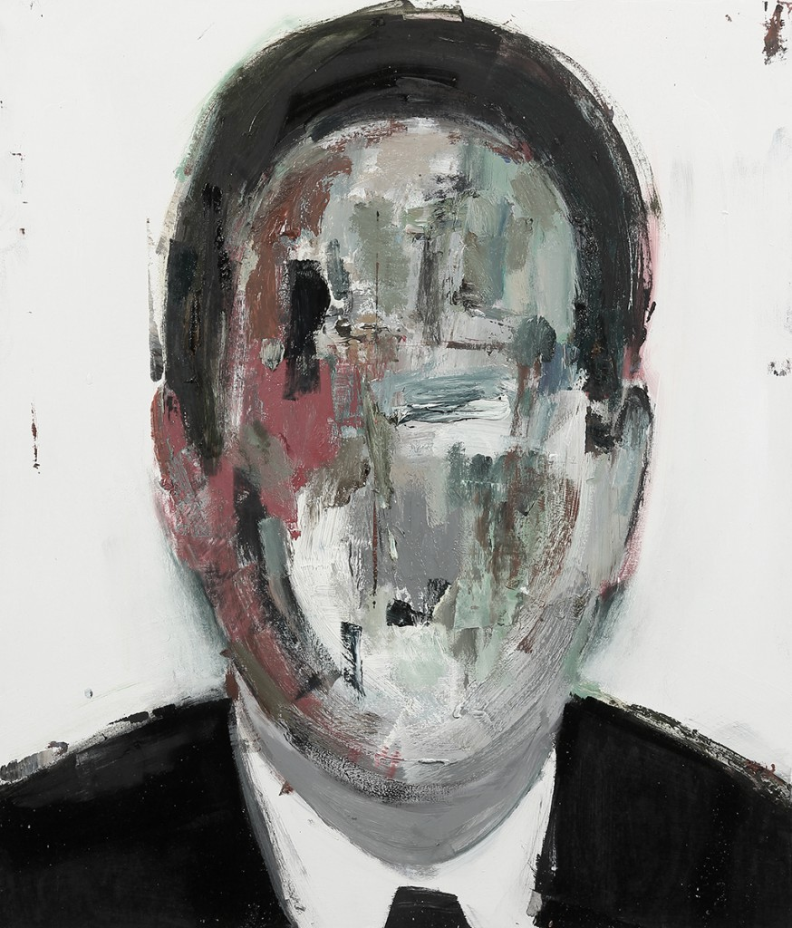 Brett  Amory -  <strong>Anonymous #23</strong> (2014<strong style = 'color:#635a27'></strong>)<bR /> oil on wood,   24 x 28 inches  (60.96 x 71.12 cm)