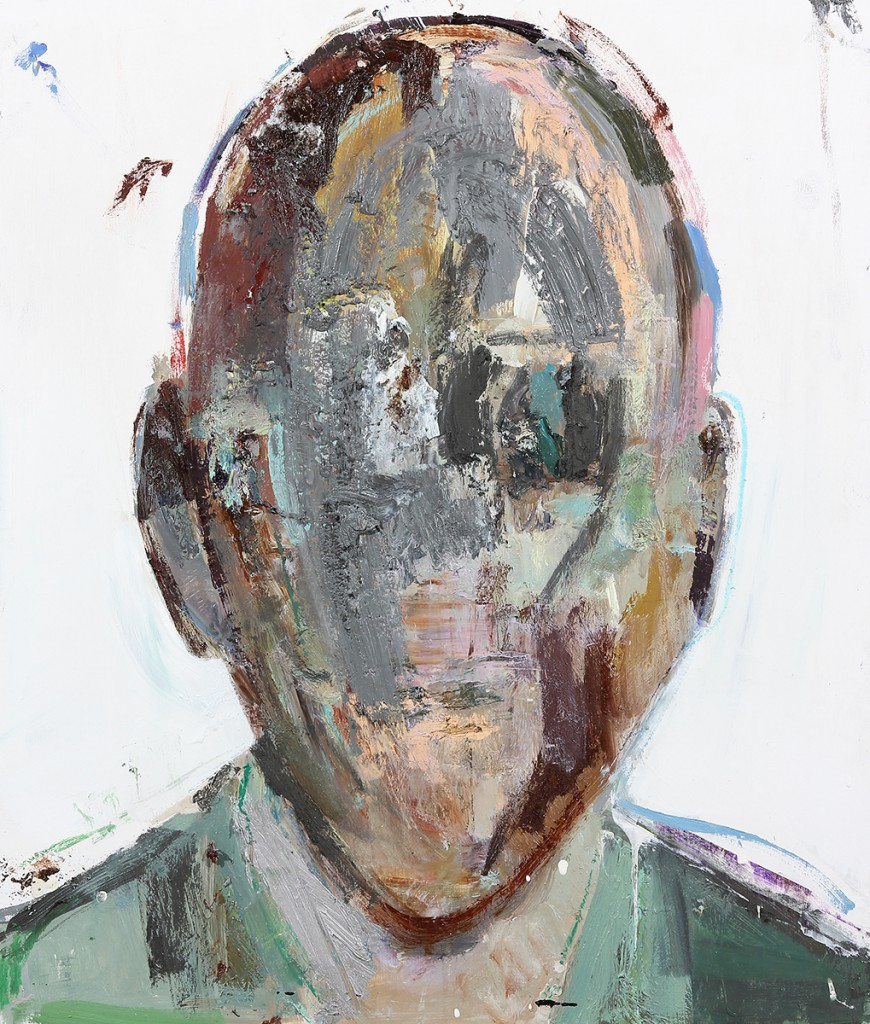 Brett  Amory -  <strong>Anonymous #24</strong> (2014<strong style = 'color:#635a27'></strong>)<bR /> oil on wood,   24 x 28 inches  (60.96 x 71.12 cm)