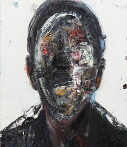 Brett  Amory -  <strong>Anonymous #25</strong> (2014<strong style = 'color:#635a27'></strong>)<bR /> oil on wood,   24 x 28 inches  (60.96 x 71.12 cm)