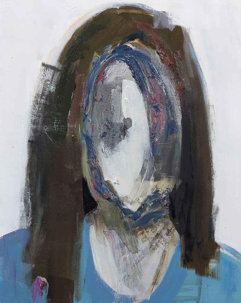 Brett  Amory -  <strong>Anonymous #27</strong> (2014<strong style = 'color:#635a27'></strong>)<bR /> oil on wood,   16 x 20 inches  (40.64 x 50.8 cm)