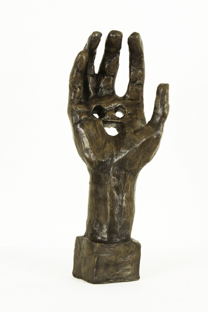 Anthony  Lister -  <strong>Hand</strong> (2014<strong style = 'color:#635a27'></strong>)<bR /> cast bronze,   14 x 6 x 4 inches  (35.56 x 15.24 x 10.16 cm)  Edition of 4