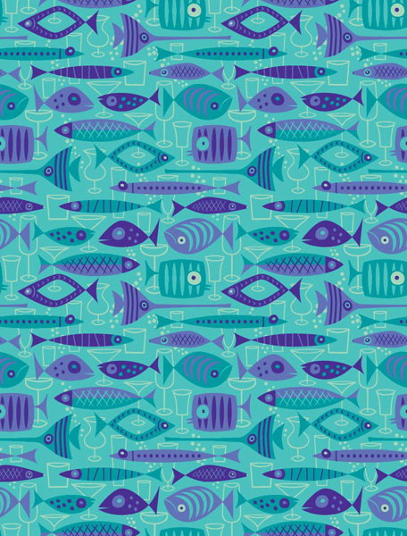 Josh  Agle (Shag) -  <strong>Shag Designed Wall Paper</strong> (<strong style = 'color:#635a27'></strong>)<bR /> Flocked Wallpaper ,   CURIO WALL COVERINGS,   Pricing:  $200.00 per roll.    Roll dimensions:   Width: 27 inches  Length: 15 feet  (30 sq ft per roll),   For contact/order information please visit:  www.curiowallcoverings.com,   Shyamala Joshi  @   (267)-939-0779