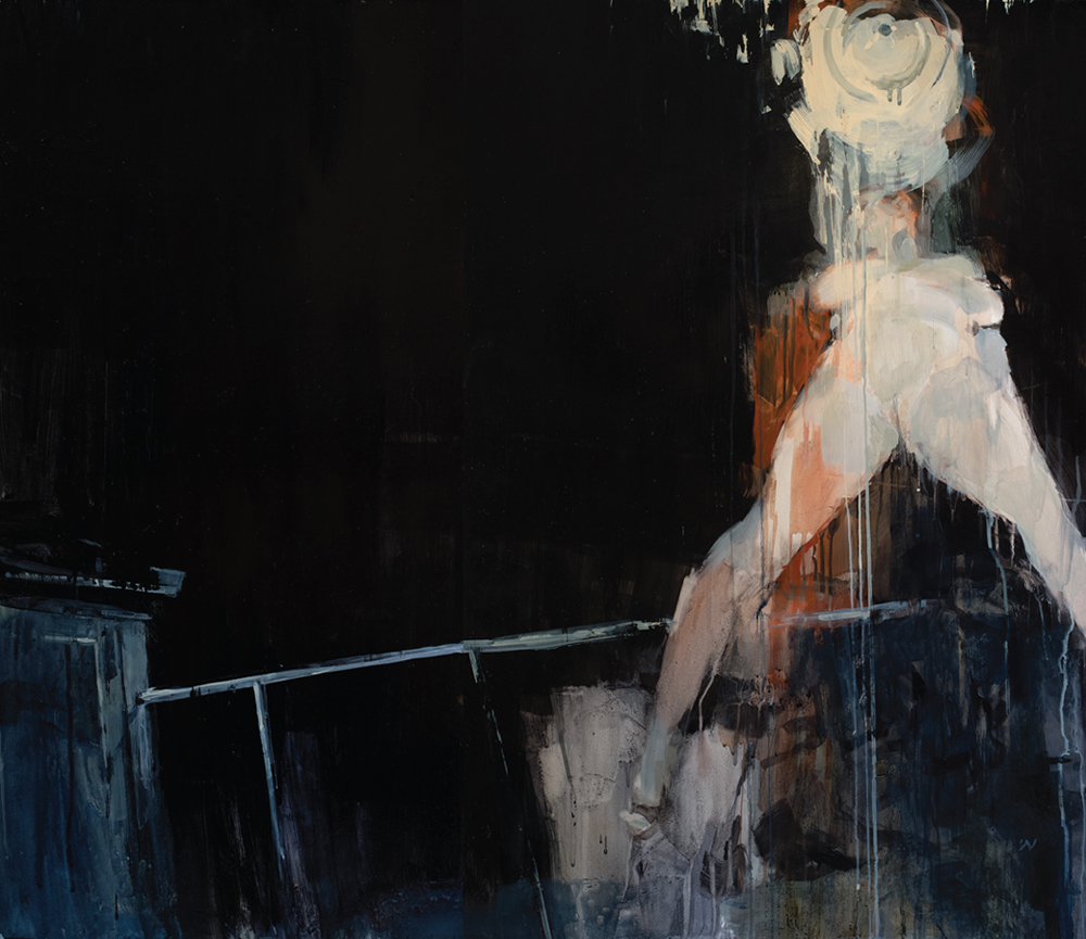 Ashley  Wood -  <strong>But Was It Love</strong> (2012<strong style = 'color:#635a27'></strong>)<bR /> oil and acrylic on panel,   36 x 42 inches (91.44 x 106.68 cm)  38.75 x 44.75 x 2.25 inches, framed